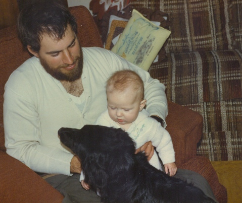 Dad, me and Sandy, the best cow dog ever. Seriously, best ever.