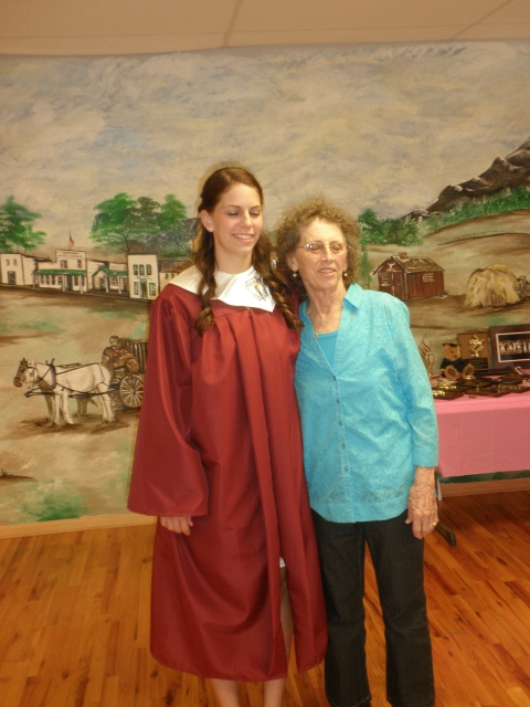 Kristen and Grandma D. at her graduation last spring
